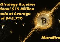 持续买入!Michael Saylor宣布MicroStrategy再度买入价值1500万美元的比特币