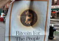 NYDIG在《华尔街日报》投放整版比特币广告,宣传语为「Bitcoin for the people」