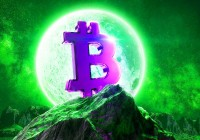 Moon,Bitcoin,Live.,Btc,Price,Double,Investment.,Moonlight,Space,Logo