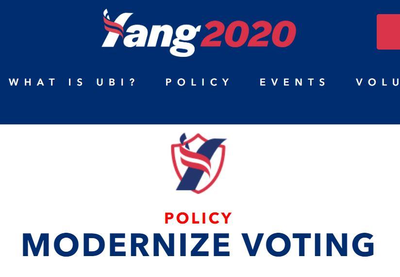 民主党2020年美总统候选人Andrew Yang:呼吁选举投票使用区块链技术  |