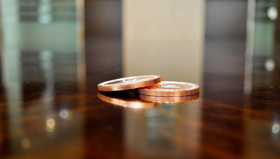 Coin, Token, Fake Money, Reflection, Table, Light