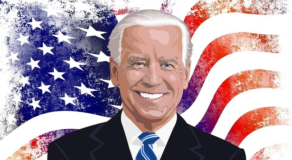 Joe Biden, President, American Flag, Portrait, Flag