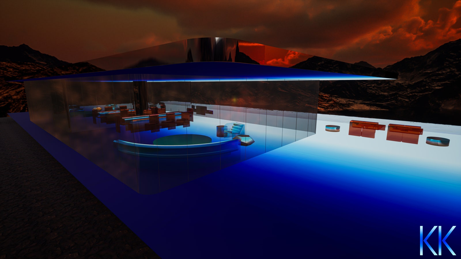 pThe otherworldly structure is made up entirely of light with an LED substrate extending throughout the entire house...